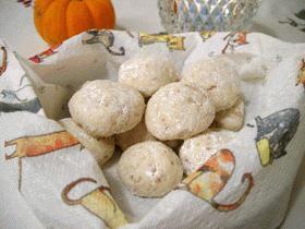 胡桃のスノーボールクッキー