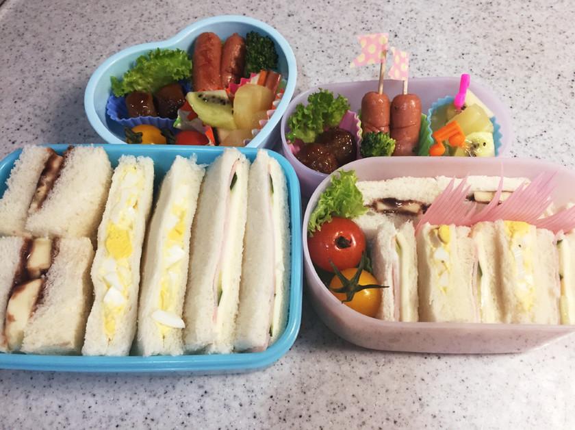 お弁当に♡ベッタリしない♡サンドイッチ♡