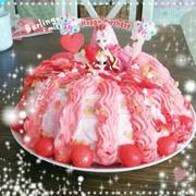 誕生日プリキュアケーキの写真