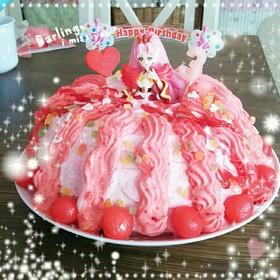 誕生日プリキュアケーキ
