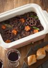 お煮しめ(炒り鶏)の赤ワイン煮