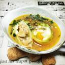 シーチキンと冷凍卵のロールキャベツスープ