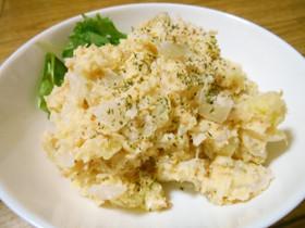鮭フレークとレンコンのポテトサラダ