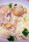 時短レシピ 鶏肉のリゾット ※白だし使用