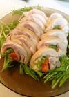 鶏肉の野菜巻き