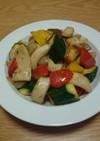 創味シャンタンでイカと野菜の炒め物
