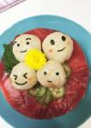 お誕生日の寿司ケーキ