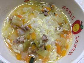 犬ごはん☆野菜とキノコの具だくさんスープ