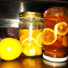 檸檬と生姜の蜂蜜漬け
