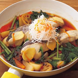 根菜のアクアパッツァ
