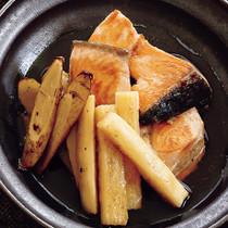 鮭と根菜の焼きびたし