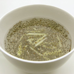 レンジで簡単!カゼにチアシード生姜湯
