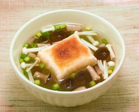 信州しめじの和風スープで作る簡単お雑煮