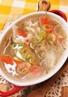たっぷり野菜と水餃子の中華スープ♪