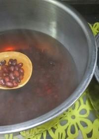 ★斬新な赤飯の「ササゲ」下処理★