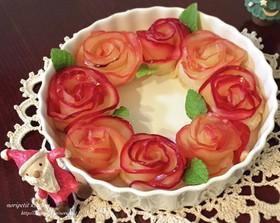 りんごのバラde華やかリースパイ