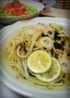 簡単松茸風味きのこスープパスタ