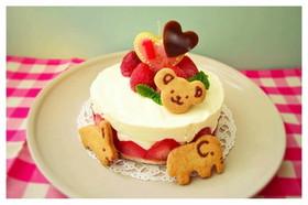 1歳 卵なしレアチーズの誕生日ケーキ