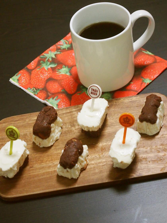 チョコレアチーズケーキのスイーツキューブ