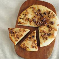 シナモンシュガーのピザ