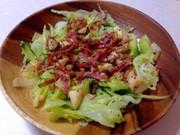 エリンギとベーコンのペペロン風サラダの写真