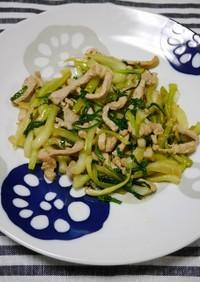 簡単!まるごと青梗菜と豚肉の生姜焼き