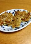 豆腐とじゃこのお好み焼き風ハンバーグ