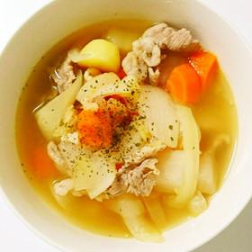 時短&節約♡根菜の食べるスープ