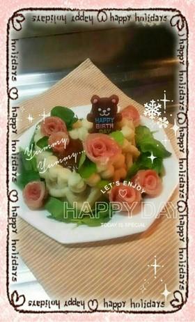 ハンバーグケーキ☆パーティー☆バースデー