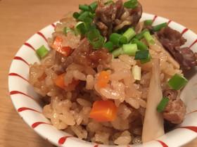 かんたん☆豚肉とエリンギの炊き込み御飯
