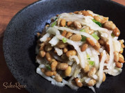 おつまみにご飯のお供に♡大根の納豆和えの写真