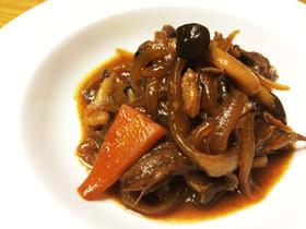 牛肉のNZ産バルサミコ酢炒め