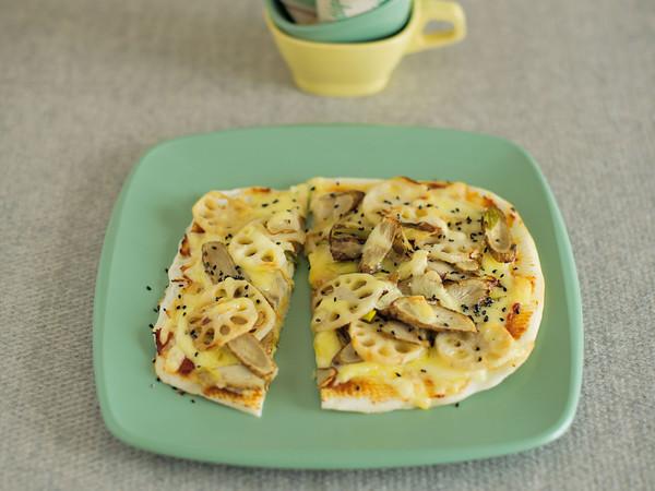 根菜の味噌ピザ