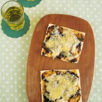 海苔の佃煮としらすの和風ピザ