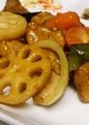 鶏肉?と彩り野菜の甘酢炒め