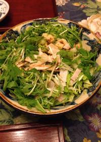 白菜と水菜のサラダ