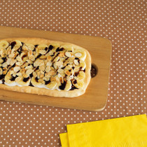 チョコバナナのピザ