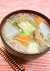 大豆のお肉で*具だくさん食べる味噌汁