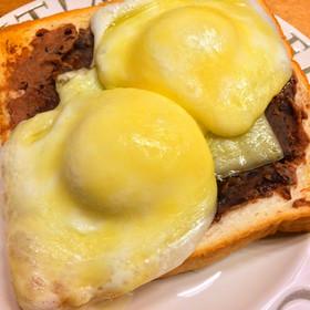 ☆あんこと雪見大福のチーズトースト☆