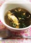 もずく酢と卵だけdeお手軽♡温スープ