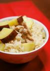 速攻☆さつまいもと鶏肉の簡単炊き込みご飯