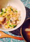 豆腐と鶏ひきで親子丼*まろやかほっこり〜