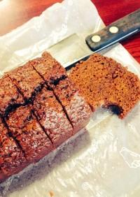 黒糖と醤油の懐かしいケーキ