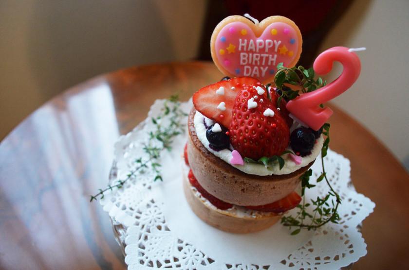 2歳 誕生日ケーキ ホットケーキミックス