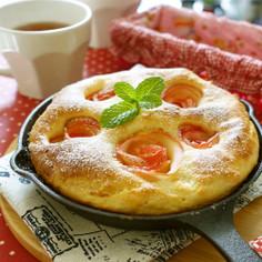 スキレットで簡単HMで林檎の薔薇ケーキ♪