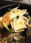 麺つゆオンリー!厚揚げと小松菜キノコ副菜