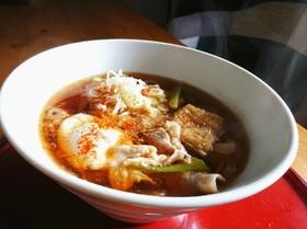 お鍋1つで簡単♪生姜肉汁うどん♪ランチ♪