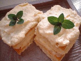 バタークリームケーキ。