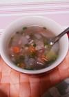創味シャンタンDXで雑穀野菜スープ