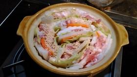 お一人様の白菜のミルフィーユ鍋